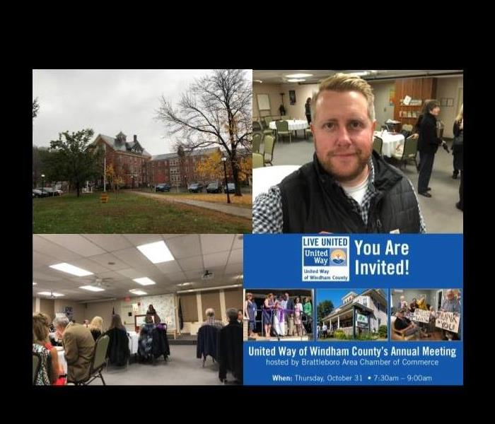 collage of pictures from an annual meeting for the United Way of Windham County