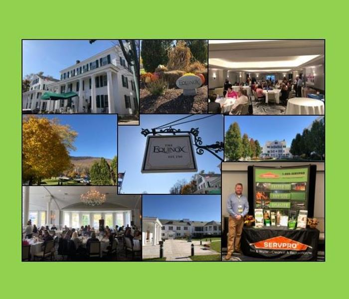 collage of pictures from a trade show at The Equinox