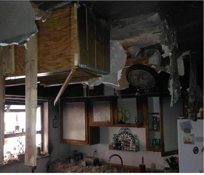 Fire Damage – Brattleboro Kitchen