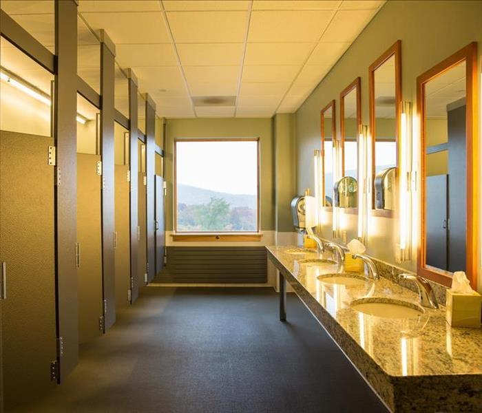 Commercial Cleaning Up Commercial Water Damage from a Leaky Toilet In Your Wilmington Diner